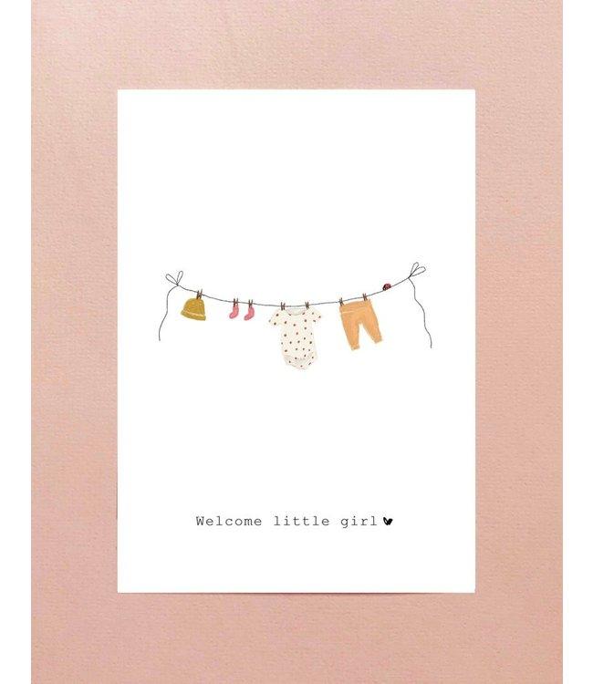 Nadine Illustraties Kaartje Welcome little girl