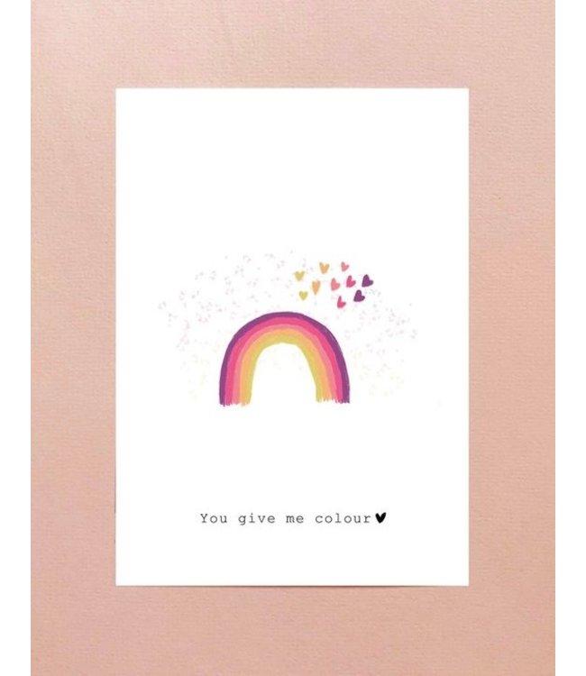 Nadine Illustraties Kaartje You give me colour