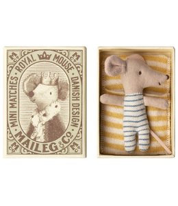 Maileg Baby mouse, Sleepy/wakey in box - Boy