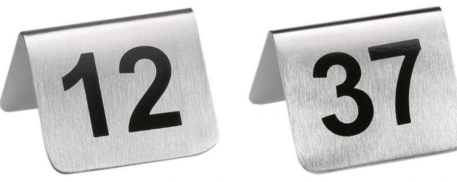 Tischnummern - einzeln