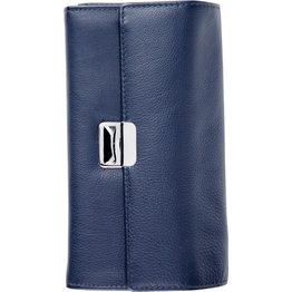 Kellnerbörse mit Schlüsselkette dunkelblau