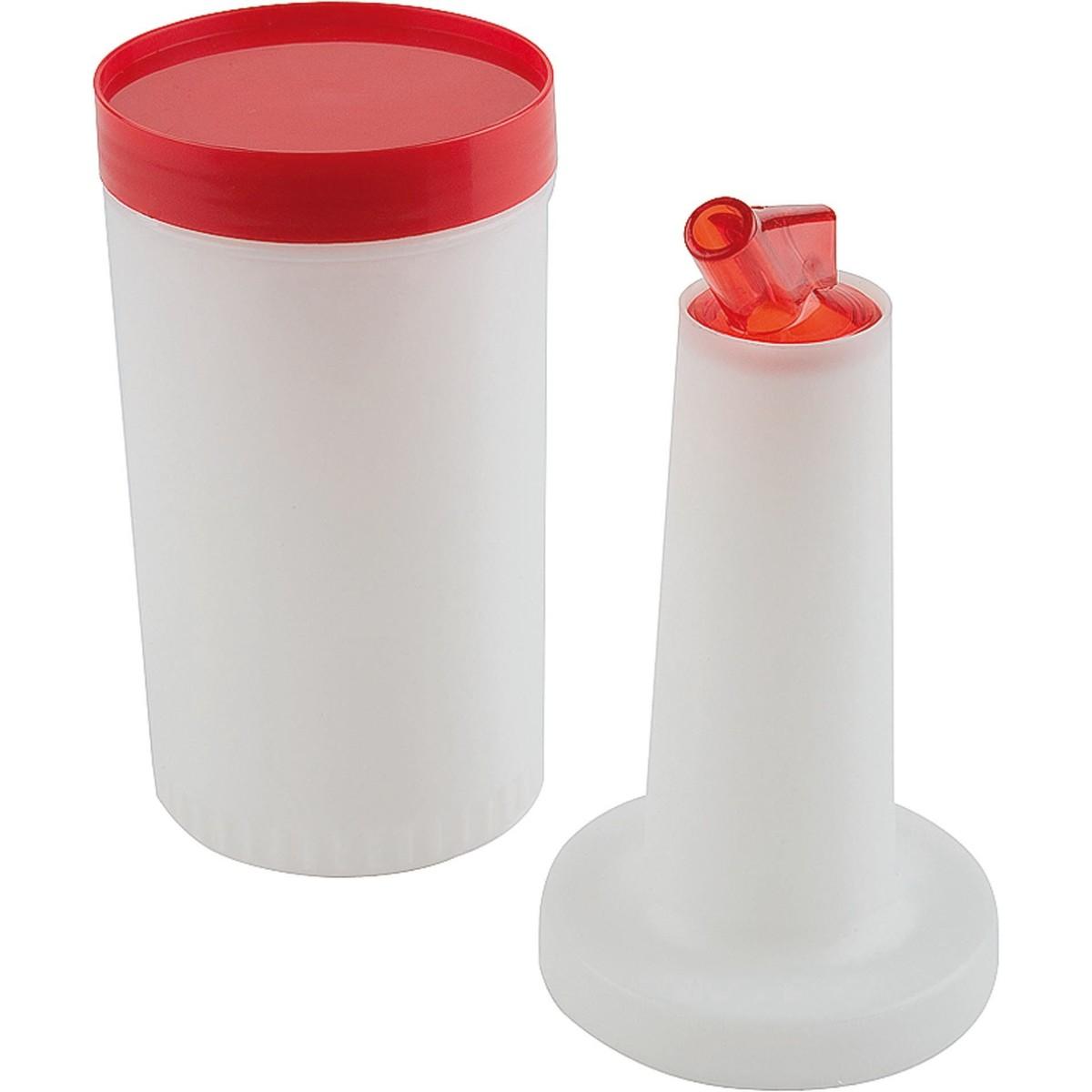 Dosier- und Vorratsbehälter rot