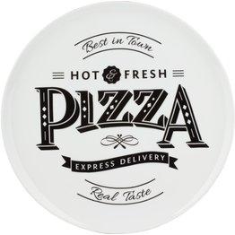 """Pizzateller weiß mit Dekor """"Hot & Fresh"""" Ø 30 cm - NEU"""