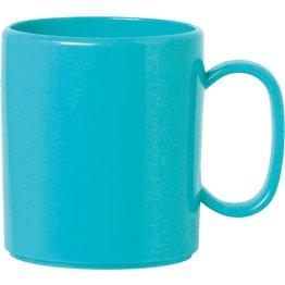 """Becher """"Colour"""" mit Henkel hellblau"""
