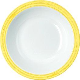 """Teller tief """"Colour"""" Ø20,5cm 600ml Melamin  gelb"""