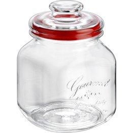"Vorratsglas ""Country Gourmet"" eckig mit Glasdeckel Ø10cm 1,7 L - NEU"