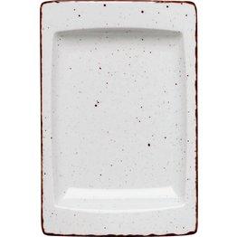 """Porzellanserie """"Granja"""" weiß Platte flach eckig, 18x12 cm"""