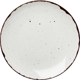 "Porzellanserie ""Granja"" weiß Teller flach Coup-Form, 20,7 cm"