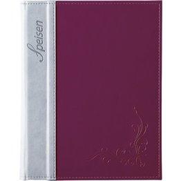 "Speisenkarte ""Flora"" A5 aubergine"