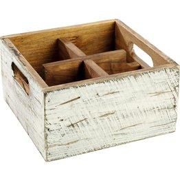"""Tischbox """"Vintage"""" 4 Fächer"""