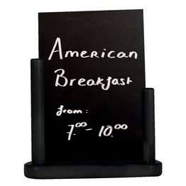 Tischtafel inkl. Gestell aus Holz schwarz A4