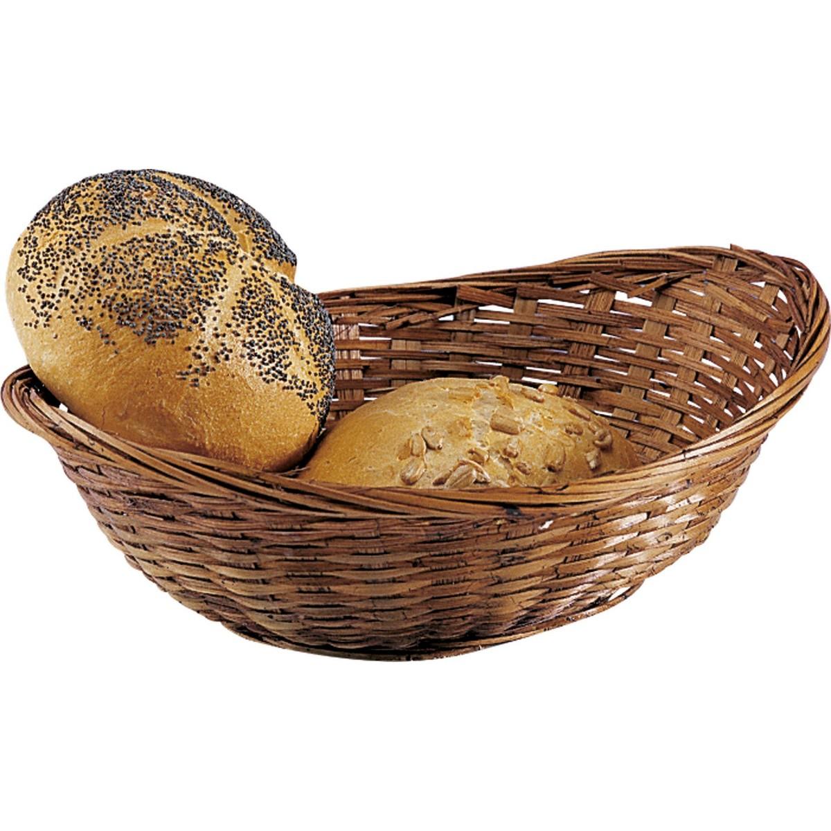 Brot-/Servierkorb dunkel gebeizt