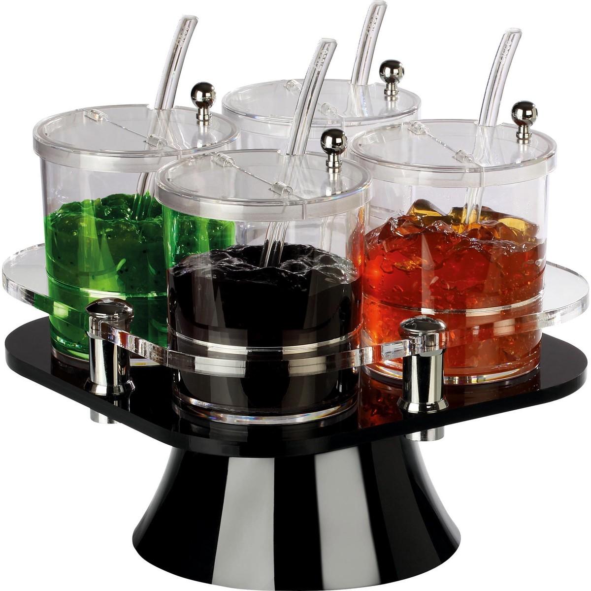 Buffetbar drehbar mit 4 Behältern