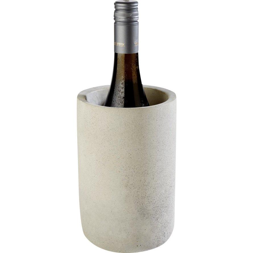 """Flaschenkühler """"Element"""" Beton grau"""