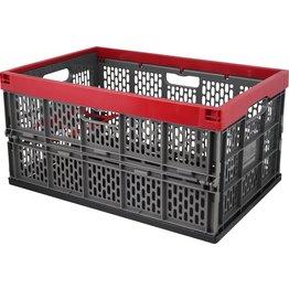 Klappbox 45l grau-rot