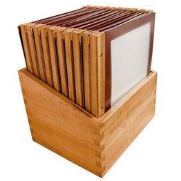 "Speisenkarten-Box ""Holz""-Set"