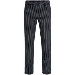 """Herren-Hose """"Five-Pocket"""" gestreift schwarz/ weiß Größe 56 - NEU"""
