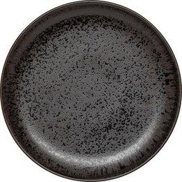 "Porzellanserie ""Ebony"" Teller flach rund Ø20,2cm - NEU"