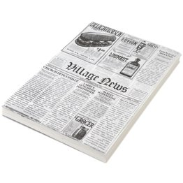 "Einschlagpapier ""Zeitungsdruck"" 25x35 cm - NEU"