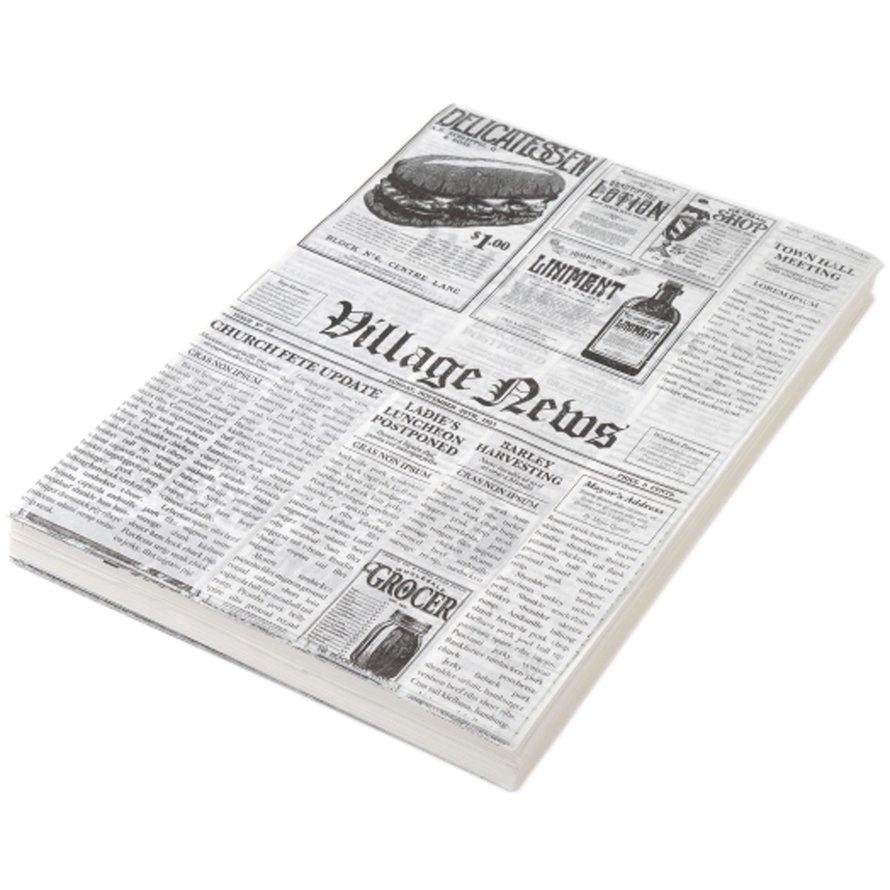 """Einschlagpapier """"Zeitungsdruck"""" 25x35 cm"""