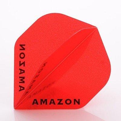 Piórka Amazon 100 Przezroczysty Red