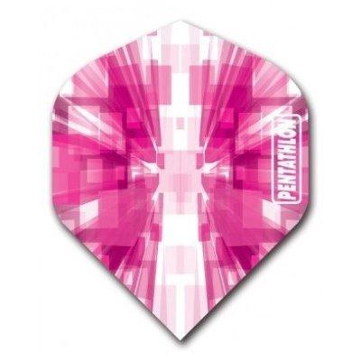 Piórka Pentathlon Vizion Star Burst Pink