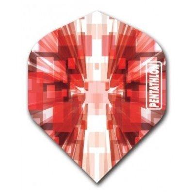 Piórka Pentathlon Vizion Star Burst Red