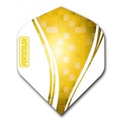 Piórka Pentathlon Vizion Swirl Yellow