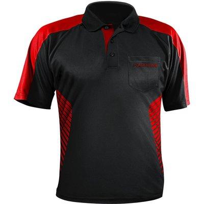 Harrows Vivid Dartshirt Black & Fire Red