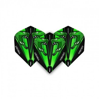 Piórka Peter Wright Snakebite Green Transparent