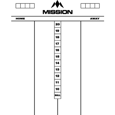 Mission Whiteboard Cricket - 50x40 cm