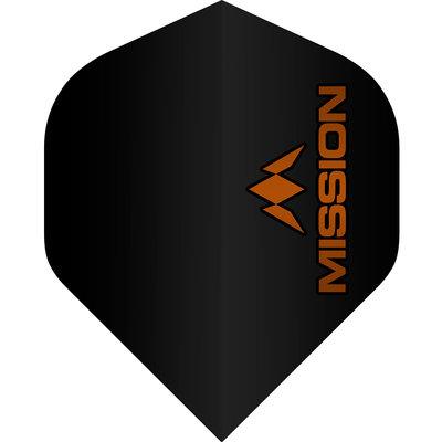 Piórka Mission Logo Std No2 Black & Orange