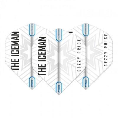 Piórka Gerwyn Price - White & Grey Snowflake