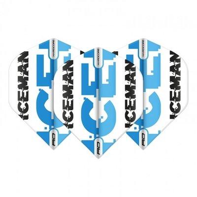 Piórka Gerwyn Price - White & Blue Logo