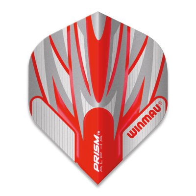 Piórka Winmau Prism Alpha Extra Thick Grey & Red