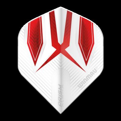 Piórka Winmau Prism Alpha Extra Thick White & Red