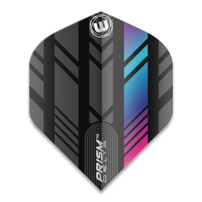 Piórka Winmau Prism Delta Extra Thick Black & Multi