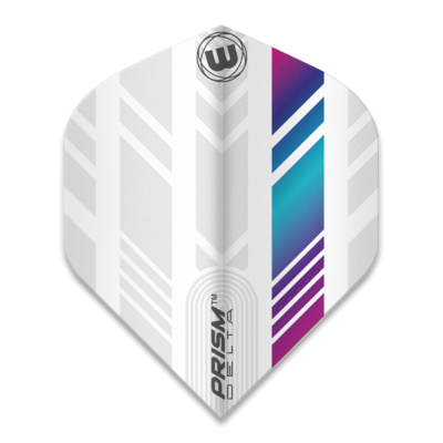 Piórka Winmau Prism Delta Extra Thick White & Multi