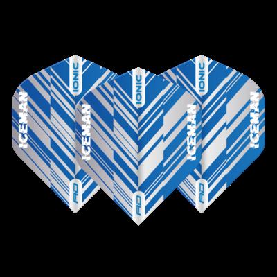 Piórka Gerwyn Price Hardcore Ionic  Blue & White Stripe