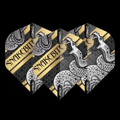 Piórka Peter Wright Hardcore Ionic Snakebite Coiled Snake Gold