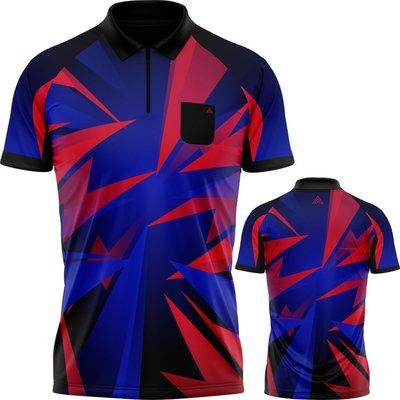 Arraz Shard Koszulka do dart Black & Blue-Red
