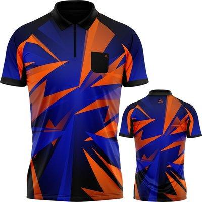 Arraz Shard Koszulka do dart Black & Blue-Orange