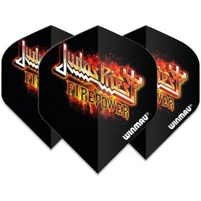 Piórka Winmau Rock Legends Judas Priest Flaming Logo