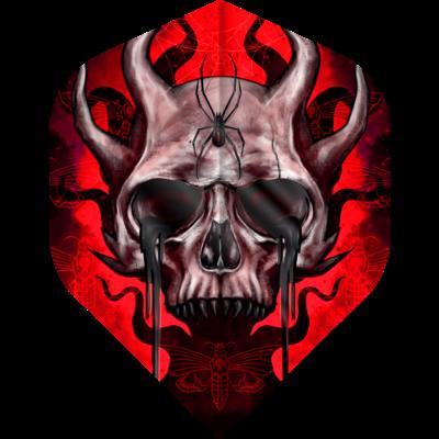 Piórka Designa Horror Show - Horned Skull No2