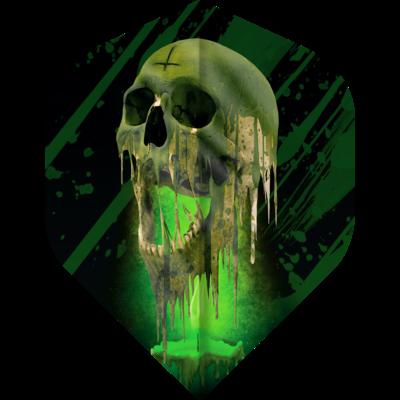 Piórka Designa Horror Show - Melting Skull No2