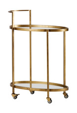 Push Trolley Metaal Antique Brass