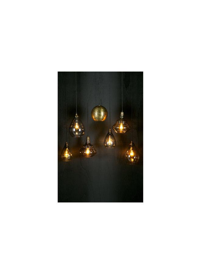 Simple Hanglamp Glas Medium Antique Brass