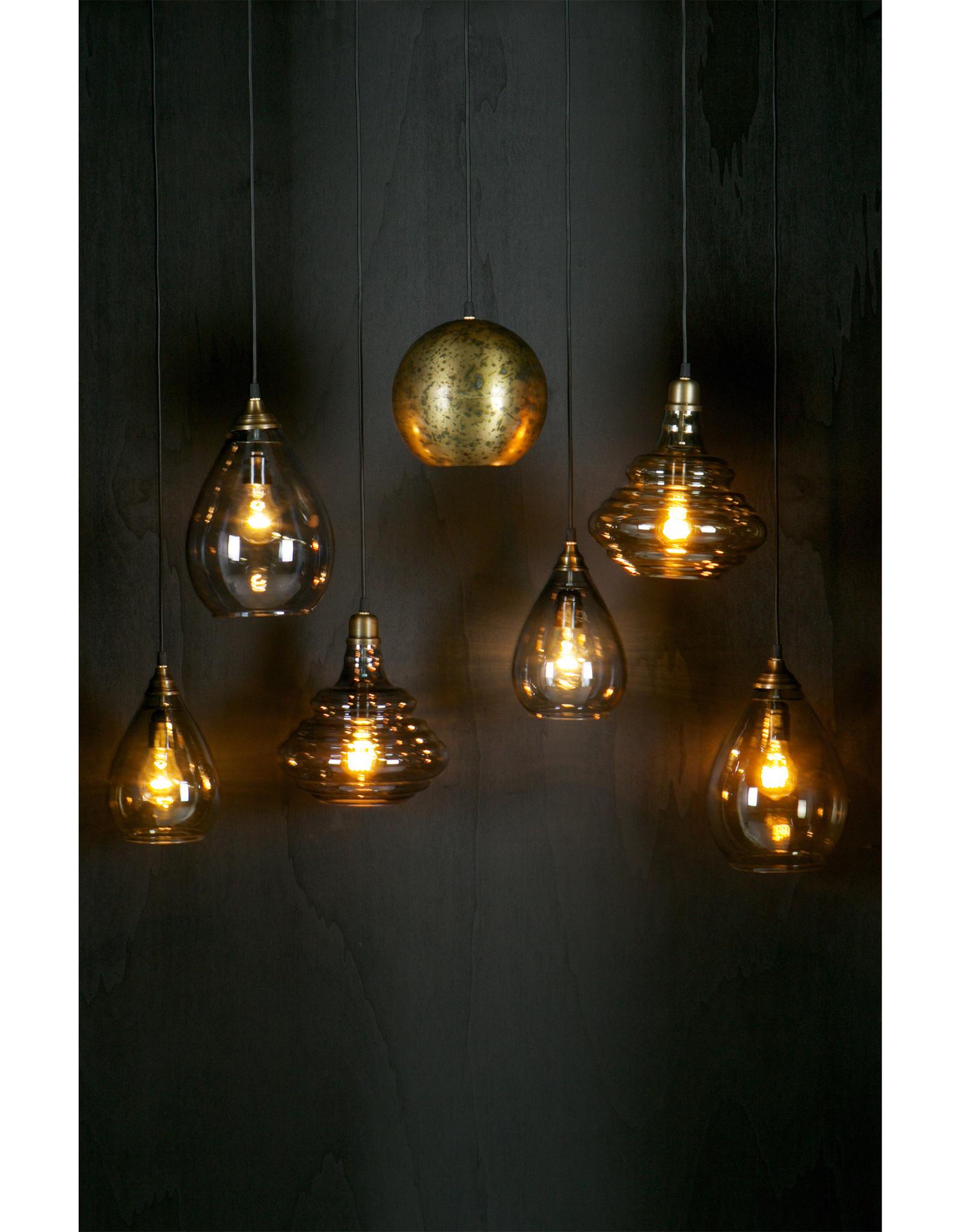 Simple Hanglamp Glas Medium Grijs