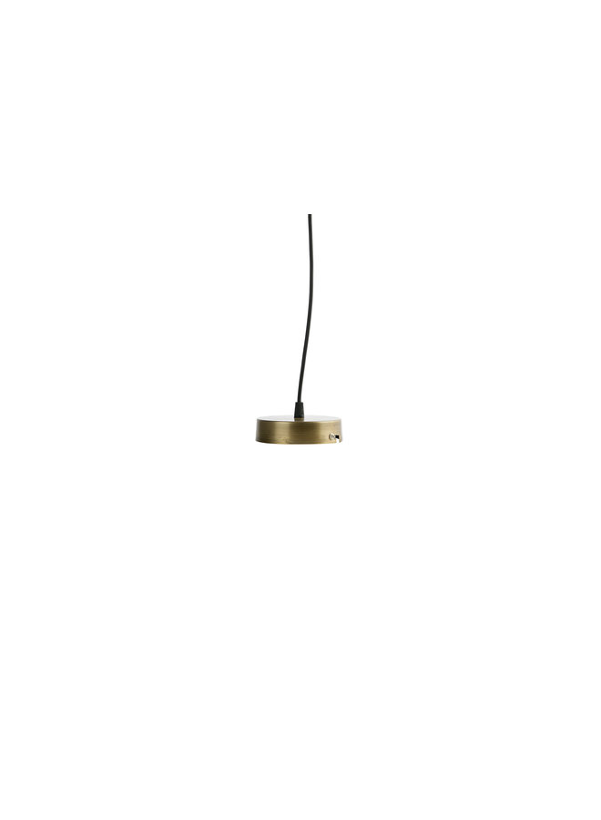 Simple Hanglamp Glas Large Antique Brass