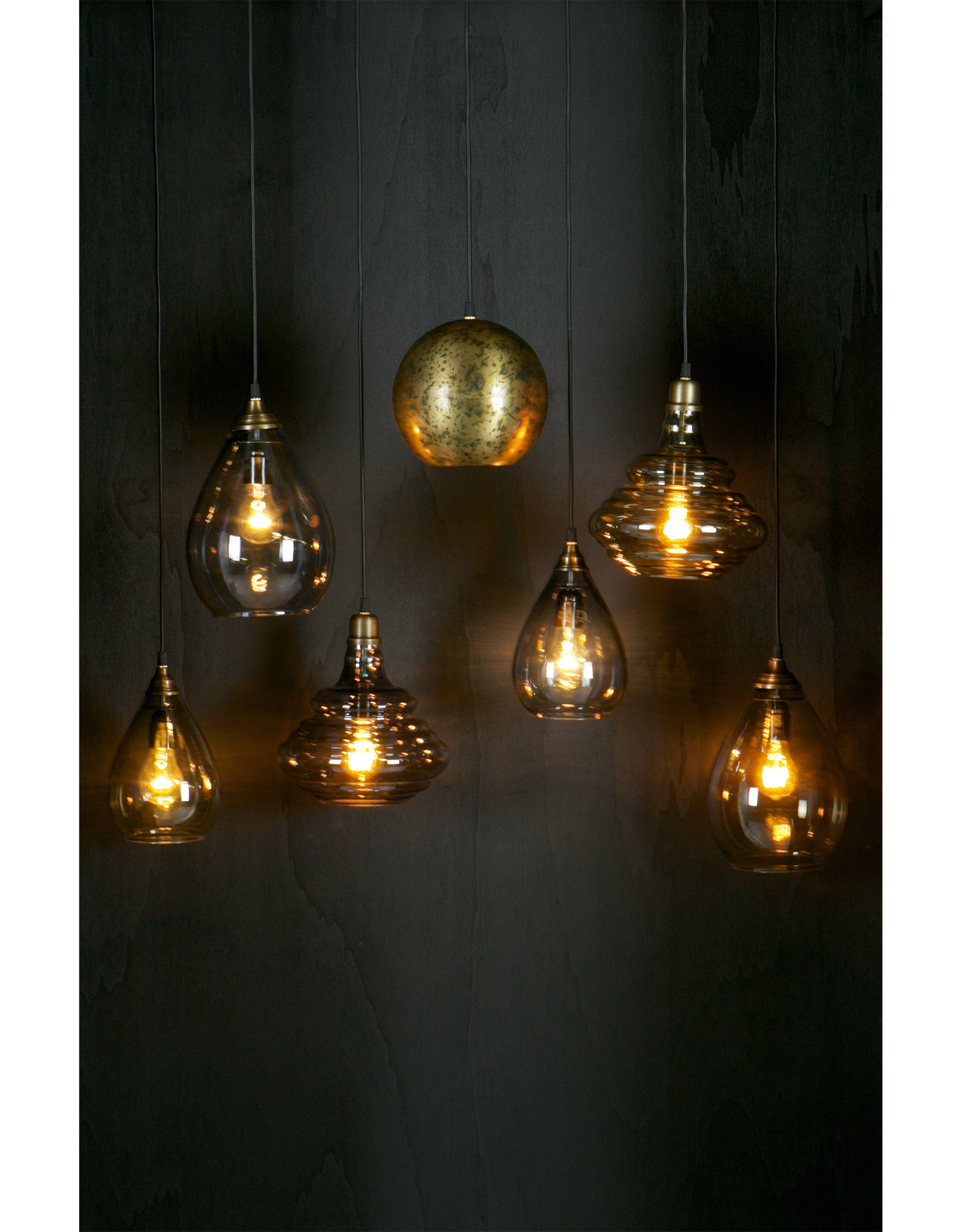 Simple Hanglamp Glas Large Grijs